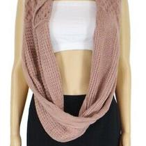 Vince Camuto Women's Knitted Scarf Blush Pink One Size Infinity Loop 48 737 Photo