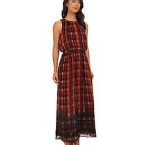 Vince Camuto Women's Maxi Dress Xl Poppy Assorted Plaid Lined Nwt Msrp 149 Photo