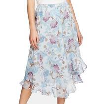 Vince Camuto Women's Maxi Skirt Blue Size Xxs Floral Print Ruffle 99 503 Photo