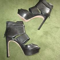 Vince Camuto Women's Shoesblack Platform High Open Heels Size 8.5 Photo