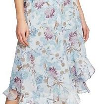 Vince Camuto Women's Skirt Light Blue Size Large L Bloom Maxi Ruffled 99 204 Photo