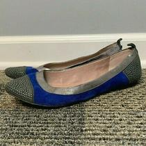 Vince Camuto Women's Toker Ballet Flats Size 7.5 B Suede Leather Blue Gray  Photo