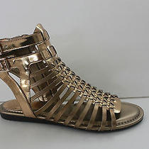 Vince Camuto Women Size 7.5 Copper Leather Gladiator Sandal Shoe Low 37.5 M Nib Photo