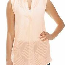 Vince Camuto Womens Blouse Pink Blush Size Xl Tank Semi-Sheer Textured 89 125 Photo