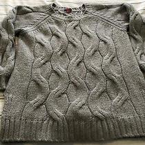 Vince Camuto Womens Cable Knit Sweater Sz Small Grey 10 Photo