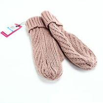 Vince Camuto Womens Gloves Blush Pink One Size Knitted Mittens Accessory 32 710 Photo
