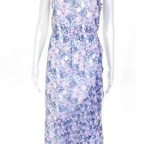 Vince Camuto Womens Mystic Bloom Print Spaghetti Strap Dress Multi Colored Size Photo