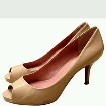 Vince Camuto Womens Nude Open Toe Pumps Size 7b Photo