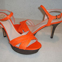 Vince Camuto Womens Nwob Paden Orange Sandals Shoes 10 Med New Photo