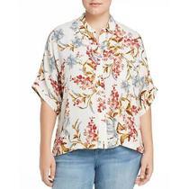 Vince Camuto Womens Oasis Bloom Ivory Button-Down Top Shirt Plus Xxxl Bhfo 5373 Photo