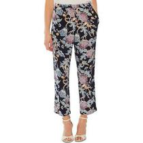 Vince Camuto Womens Pants Blue Size Xl Cropped Floral Bloom Stretch 99 485 Photo