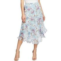 Vince Camuto Womens Poetic Blooms Blue Floral Asymmetric Maxi Skirt S Bhfo 3404 Photo