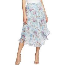 Vince Camuto Womens Poetic Blooms Blue Floral Asymmetric Maxi Skirt Xl Bhfo 4487 Photo