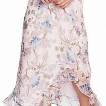 Vince Camuto Womens Purple Size Small S Poetic Bloom Asymmetrical Skirt 99 525 Photo