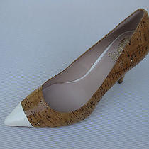 Vince Camuto Womens Shoes 110 New Harty 2 Lacquered Cork White Pump 6 M Photo