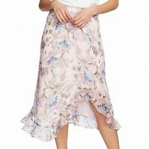 Vince Camuto Womens Skirt Pink Size Small S Poetic Bloom Asymmetrical 99 209 Photo
