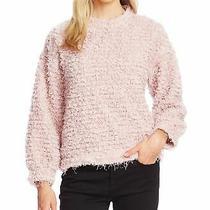 Vince Camuto Womens Sweatshirt Blush Pink Size Xs Popcorn Knit Pullover 79 146 Photo