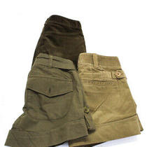 Vince Theory Womens Zipper Fly Short Shorts Brown Cotton Size 0 Lot 3 Photo