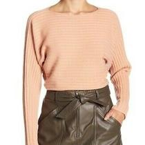 Vince Womens Size M Ribbed Wool Cashmere Tie Cutout Back Sweater Blush Pink Photo