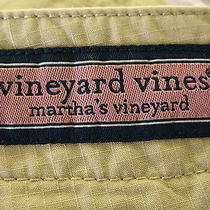 Vineyard Vines 100% Cotton Beige Khaki Outdoors Summer Cargo Shorts Size 38 Euc Photo