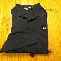 Vineyard Vines 100% Cotton Long Sleeve Polo Golf Shirt Size Adult Large Photo