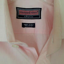 Vineyard Vines 100% Cotton Men's  Dress  Shirt Size 17 Photo
