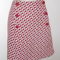 Vineyard Vines 16 Skirt Red White Fish New 118 Straight Nwt  Photo