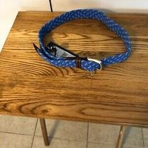 Vineyard Vines Azure Blue Flecked Bungee Belt 30