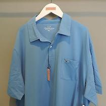 Vineyard Vines Big Man Designer Solid Blue Whale Pocket Polo Shirt 2xl Nwt    Photo