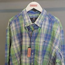 Vineyard Vines Big Man Whistler Plaid Indigo Button Front Whale Shirt 2xl Nwt    Photo