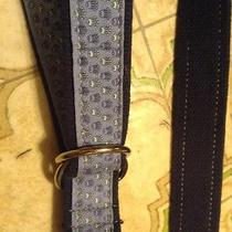 Vineyard Vines Blue Canvas Crown Pattern Belt Size 32 Waist Photo
