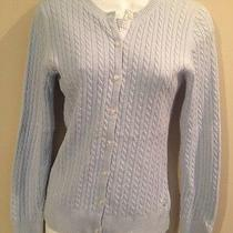 Vineyard Vines Blue Cardigan Sweater Small Cable Knit Photo