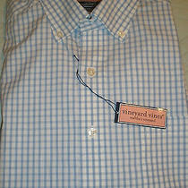 Vineyard Vines Blue Murray Grapic  Check Long Sleeve Shirt Size L Reg. Fit Nwt Photo