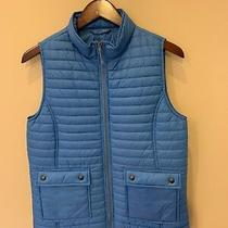 Vineyard Vines Blue Vest With Snap Pockets Quilted Women's Size S Small New Photo
