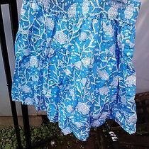 Vineyard Vines Blue White Fish Women Skirt Xs Photo