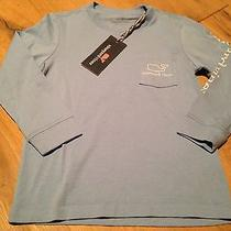 Vineyard Vines Boy's Ls Graphic T-Shirt Whale Size 7 Nwt Photo