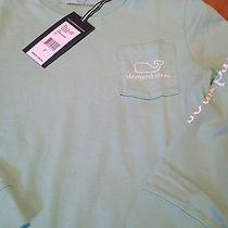 Vineyard Vines Boy's Ls Graphic T-Shirt Whale Size 8-10 Nwt Photo