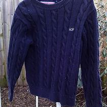 Vineyard Vines Boy's Navy Blue Cable Sweater- Size 5 Photo