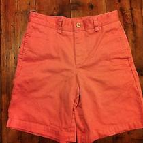 Vineyard Vines Boy's Rhubarb Red Chino Bermuda Shorts- Size 8- Retails 35 Photo
