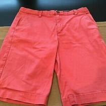 Vineyard Vines Boys 16 Club Shorts Sailors Red 100% Cotton Twill Chinos Salmon Photo