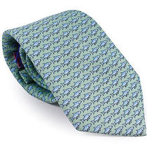 Vineyard Vines Boys Bonefish Light Green Colorful Silk Necktie Accessory New Photo