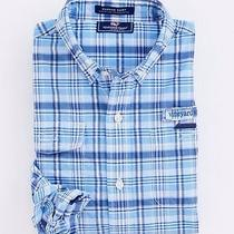 Vineyard Vines Boys Harbor Shirt Tarpon Plaid Sz 7 Ocean Breeze Photo