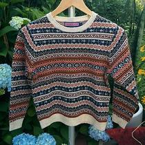 Vineyard Vines Boys Kids Fair Isle Nordic Long Sleeve Sweater Size 7 Euc Photo