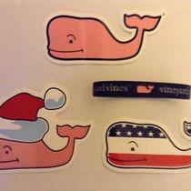 Vineyard Vines Bracelet With Patrioticsanta and Pink Whale Stickers Photo