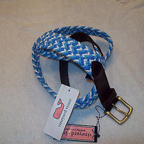 Vineyard Vines Braided Bungie Club Belt Nwt 42 49.50 Made in Usa Photo