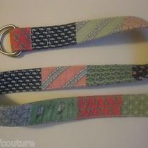 Vineyard Vines by Shep & Ian Cotton Whales Golf Sailboat Cotton D-Ring Belt S Photo
