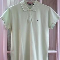 Vineyard Vines by Shep & Ian Lime Green Short Sleeve Polo Shirt Sz Women M  Photo