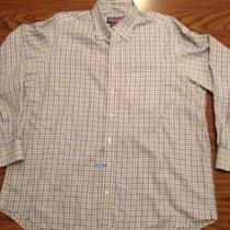 Vineyard Vines by Shep & Ian Murray Mens Xl Blue/ Yellow Check Button Down Shirt Photo