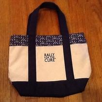 Vineyard Vines Canvas Tote Bag Rally for Cure Navy Medium Tennis Golf Mint Photo