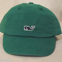Vineyard Vines Child's Green Whale Logo Baseball Cap/hat With Mini Whale Sticker Photo